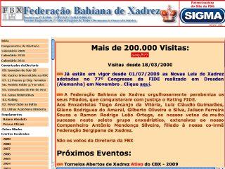 Thumbnail do site F.B.X. - Federação Bahiana de Xadrez