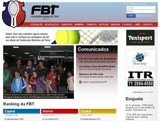 Thumbnail do site Federação Baiana de Tênis