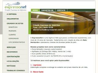 Thumbnail do site ExpressoNet - Criação de sites
