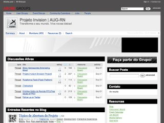 Thumbnail do site Projeto Invision
