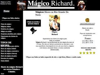 Thumbnail do site Mágico Richard