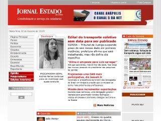 Thumbnail do site Jornal do Estado de Goiás