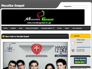 Thumbnail do site Macaiba Gospel