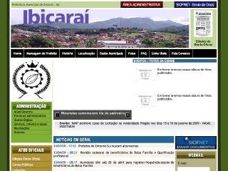 Thumbnail do site Prefeitura Municipal de Ibicaraí