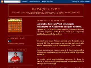 Thumbnail do site Espaço Livre