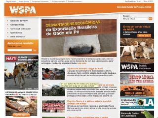 Thumbnail do site WSPA Brasil - Sociedade Mundial de Proteção Animal
