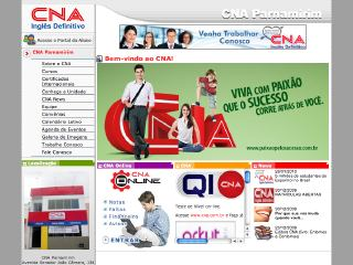 Thumbnail do site CNA - Escola de idiomas