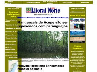 Thumbnail do site Litoral Norte News - o jornal bilingue da Bahia
