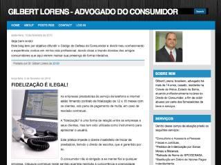 Thumbnail do site Gilbert Lorens - Advogado do Consumidor