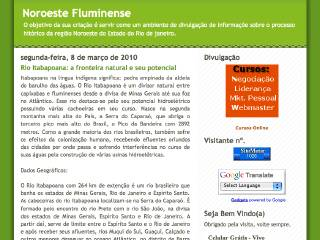 Thumbnail do site Noroeste Fluminense