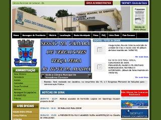 Thumbnail do site Câmara de Vereadores de Camacan
