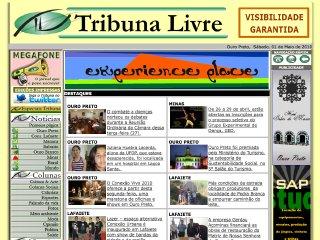 Thumbnail do site Jornal Tribuna Livre