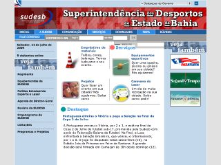 Thumbnail do site SUDESB - Superintendência dos Desportos do Estado da Bahia