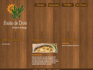 Thumbnail do site Baião de Dois Culinária Sertaneja