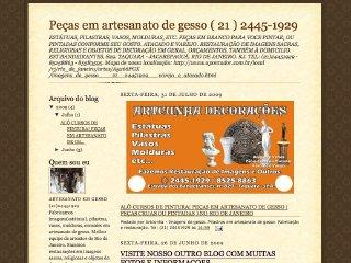 Thumbnail do site Peças em artesanato de gesso