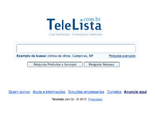 Thumbnail do site TeleLista