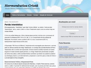 Thumbnail do site Hermenêutica Cristã
