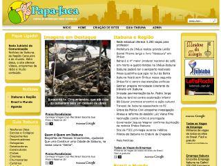 Thumbnail do site Papa-Jaca: Central de Informações sobre Itabuna