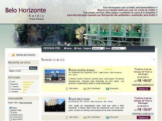 Thumbnail do site Hotéis Belo Horizonte - Reservas Online