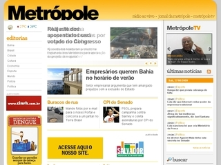 Thumbnail do site Radio Metropole FM 101.3 - Salvador