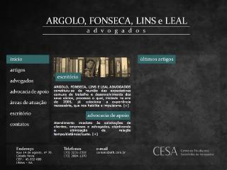 Thumbnail do site Argolo, Fonseca, Lins e Leal Advogados