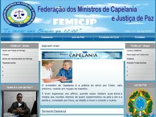 Thumbnail do site FEMICJP - Capelania & Justiça da Paz