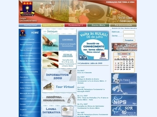 Thumbnail do site Colégio Sacramentinas