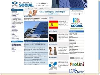 Thumbnail do site FSBA - Faculdade Social da Bahia