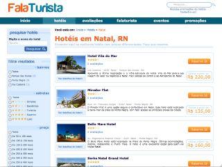 Thumbnail do site Reserva de hotel em Natal - FalaTurista