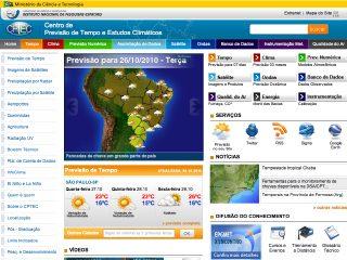 Thumbnail do site CPTEC - Centro de Previsão de Tempo e Estudos Climáticos