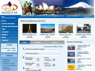 Thumbnail do site Aquarella Turismo
