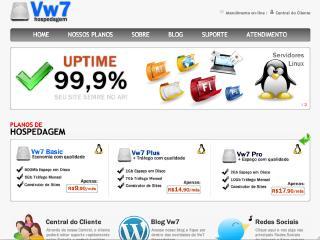 Thumbnail do site Vw7 Hospedagem