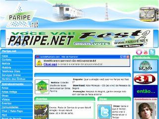 Thumbnail do site Paripe.net