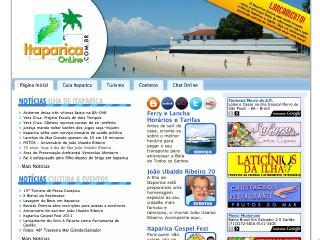 Thumbnail do site Itaparica Online