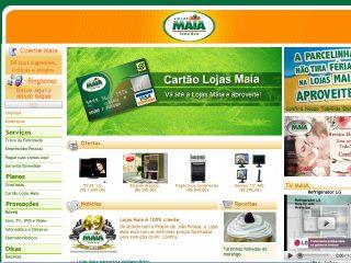 Thumbnail do site Lojas Maia
