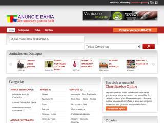 Thumbnail do site Anuncie Bahia - Classificados Online Grátis
