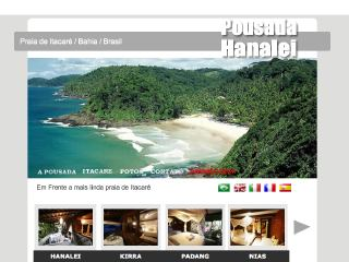 Thumbnail do site Pousada Hanalei