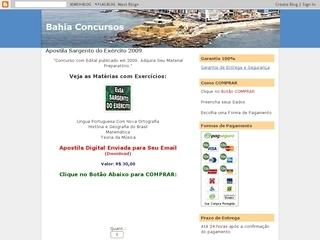 Thumbnail do site Bahia Concursos