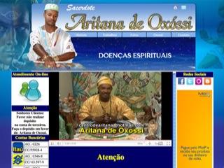 Thumbnail do site Pai de Santo Aritana de Oxóssi
