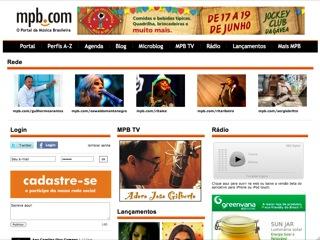 Thumbnail do site MPB.com - O Portal da Música Brasileira