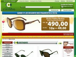 Thumbnail do site Ótica Curitiba