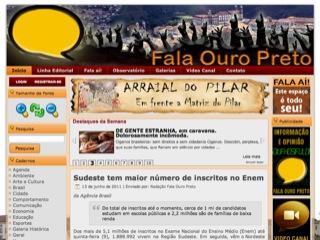 Thumbnail do site Fala Ouro Preto