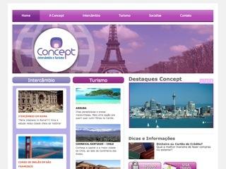 Thumbnail do site Concept Intercâmbio