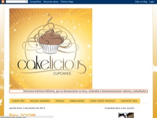 Thumbnail do site Cakelicious Cupcakes