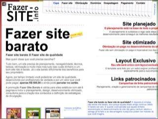 Thumbnail do site Fazer Site Barato