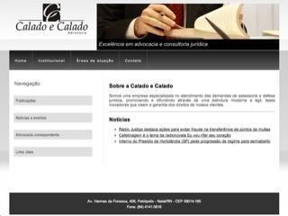 Thumbnail do site Calado e Calado Advocacia