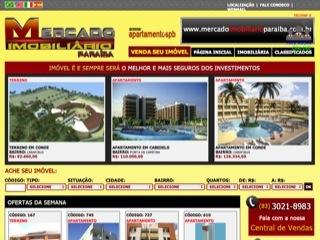 Thumbnail do site Mercado Imobiliário Paraíba