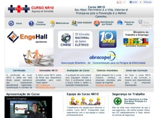 Thumbnail do site Curso de NR10 Engehall