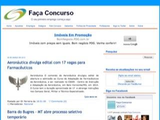 Thumbnail do site Faça Concurso