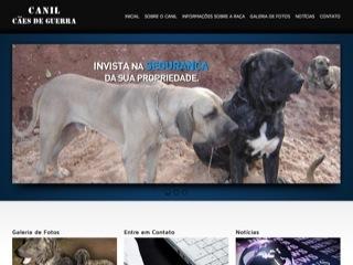 Thumbnail do site Canil - Cães de guerra